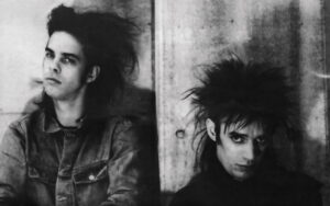 Nick Cave and Blixa Bargeld circa 1985